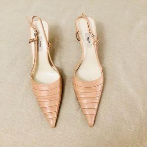 Beautiful pale pink Prada slingback heels